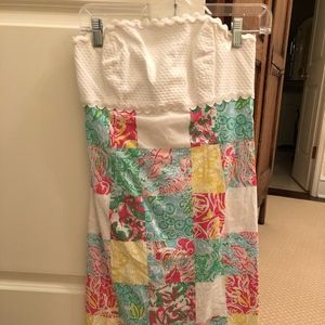 Lilly Pulitzer stapless printed dress size 4